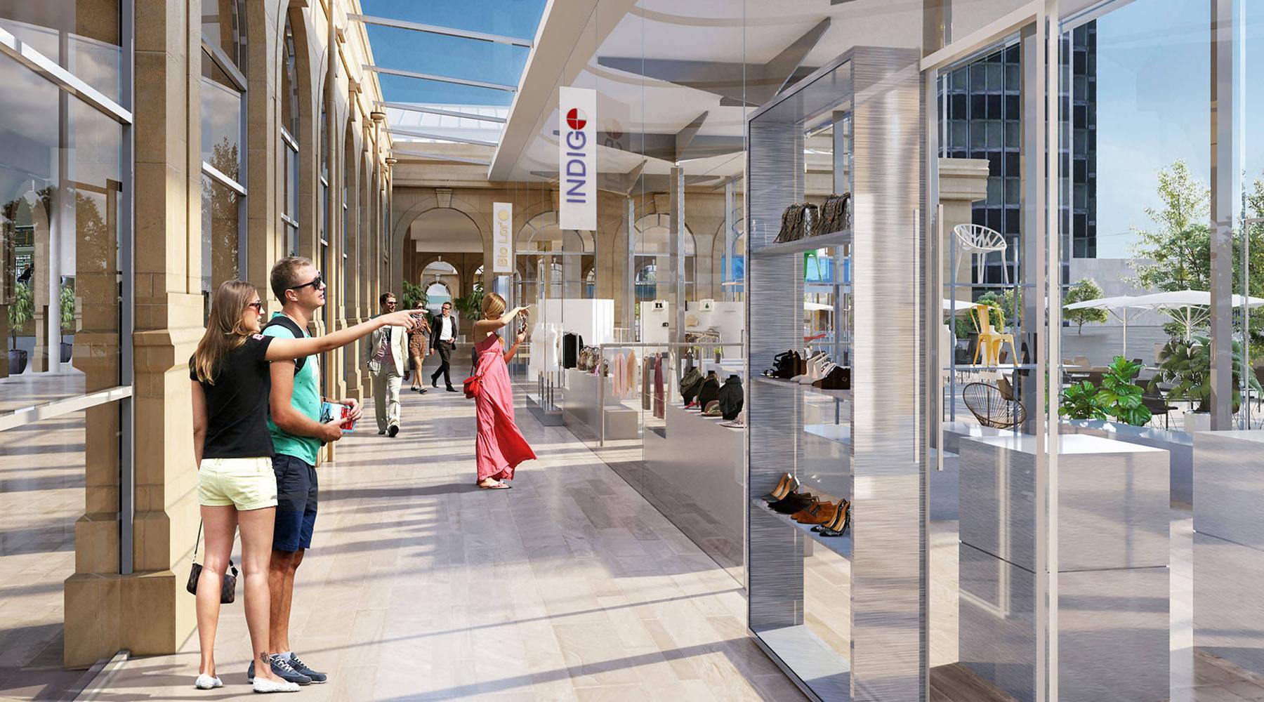 Galerie commerciale 3D