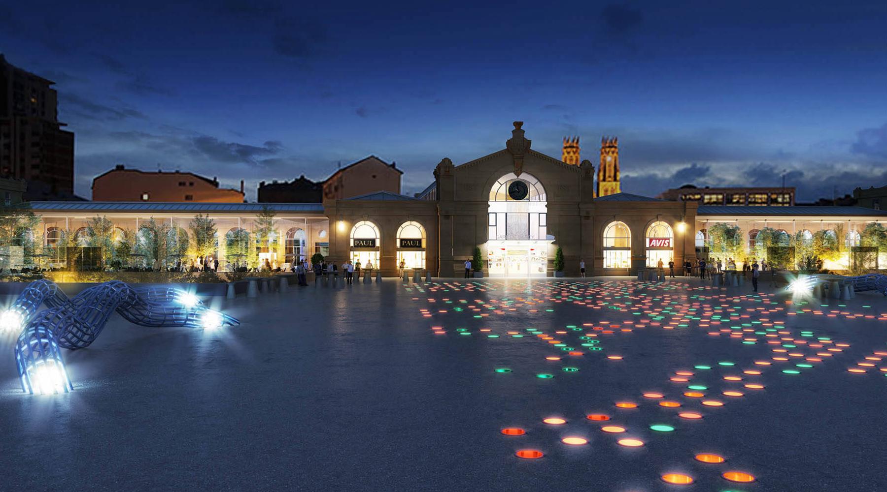 Gare 3D nuit architecte