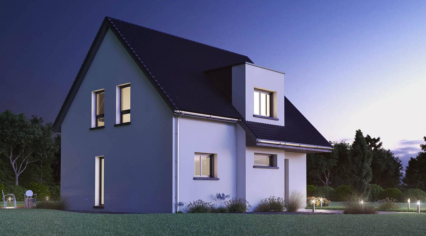 maison 3D nuit