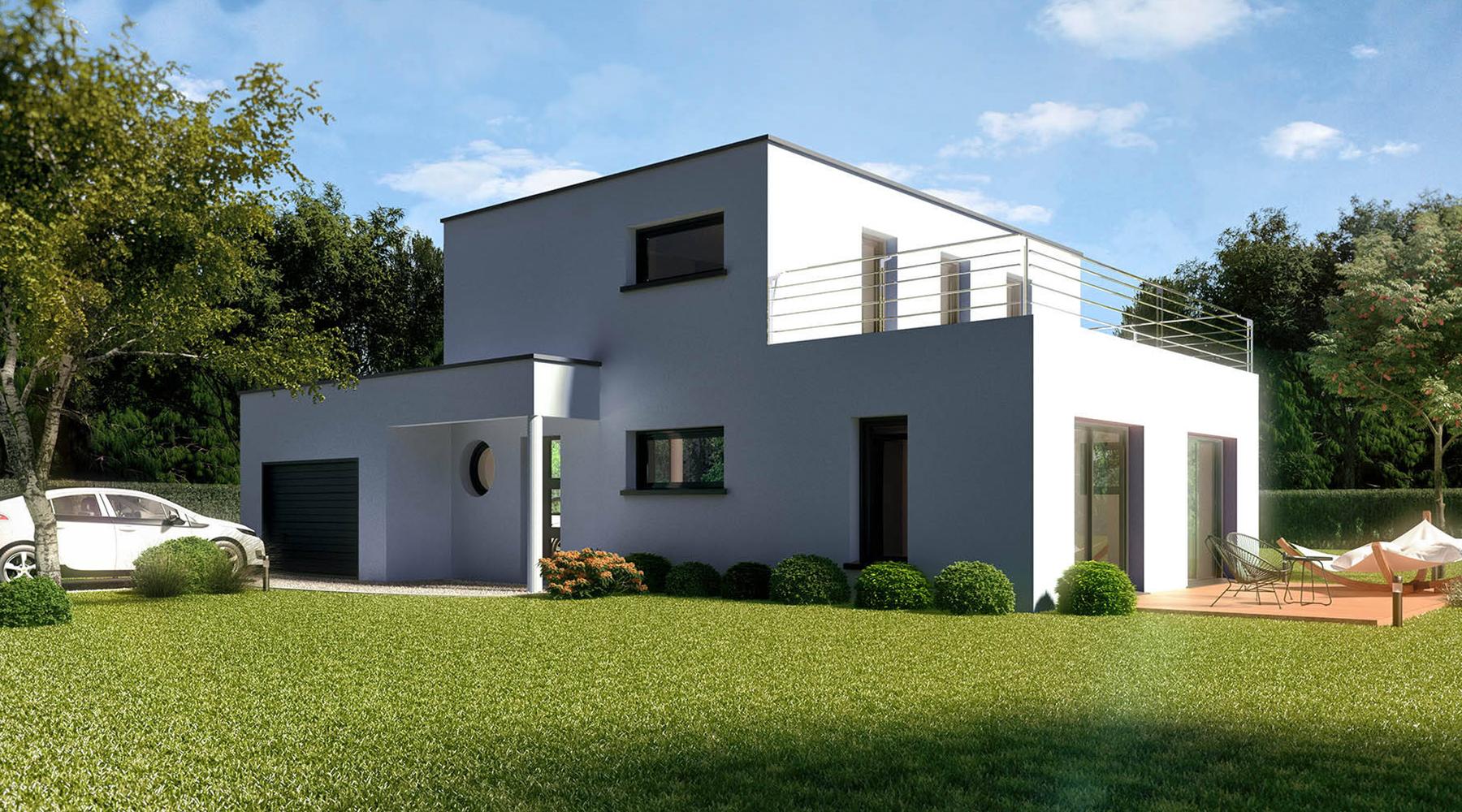 Visualisation maison architecte 3D